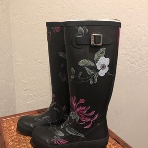 Joules Floral Print Rain Boots Wellys